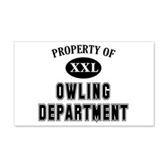 Property of Owling Dept 20x12 Wall Decal