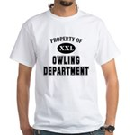 Property of Owling Dept White T-Shirt
