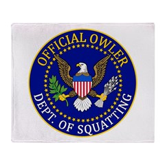 Official Owling Dept Seal Throw Blanket