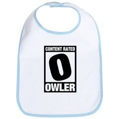 Content Rated Owler Bib