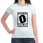 Content Rated Owler Jr. Ringer T-Shirt