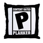 Content Rated Planker Throw Pillow