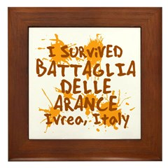 Ivrea Battle Of The Oranges Souvenirs Gifts Tees Framed Tile