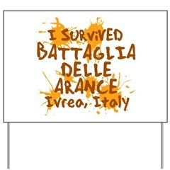 Ivrea Battle Of The Oranges Souvenirs Gifts Tees Yard Sign