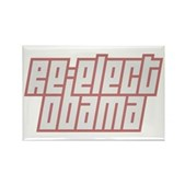 Re-Elect Obama Rectangle Magnet