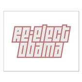 Re-Elect Obama Small Poster