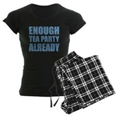 Enough Tea Party Already Women's Dark Pajamas