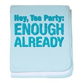 Hey, Tea Party baby blanket
