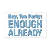Hey, Tea Party Car Magnet 20 x 12