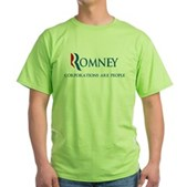 Anti-Romney Corporations Green T-Shirt