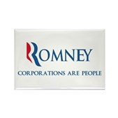 Anti-Romney Corporations Rectangle Magnet