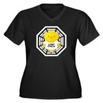 Lost Chick - Dharma Initiative Women's Plus Size V-Neck Dark T-Shirt