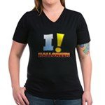 I ! Halloween Women's V-Neck Dark T-Shirt
