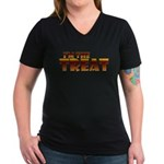 Glowing I'm the Treat Women's V-Neck Dark T-Shirt