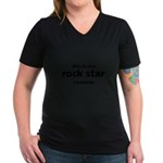 this is my rock star costume Women's V-Neck Dark T-Shirt