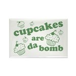 Cupcakes Are Da Bomb Rectangle Magnet (100 pack)