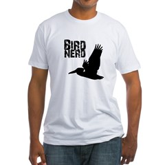 Bird Nerd (Pelican) Fitted T-Shirt