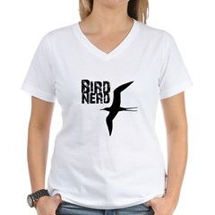 Bird Nerd (Frigatebird) Women's V-Neck T-Shirt