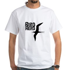 Bird Nerd (Frigatebird) White T-Shirt
