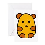 Anime Hamster Greeting Cards