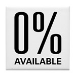 0% Available Tile Coaster