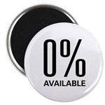 """0% Available 2.25"""" Magnet (100 pack)"""