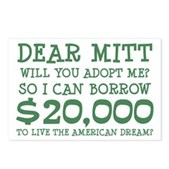 Mitt Will You Adopt Me? Postcards (Package of 8)