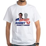 Who will Mitt Romney choose as a running mate? Fake news suggests that he'll pick a mild-mannered version of himself. This funny anti-Romney design features Mittens and his running mate - his shadow!