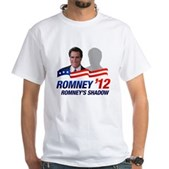 Anti-Romney Shadow White T-Shirt