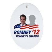 Anti-Romney Shadow Ornament (Oval)