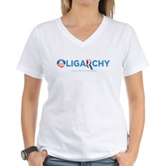 Oligarchy 2012 Women's V-Neck T-Shirt