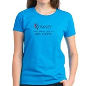 Anti-Romney: Fire People Women's Dark T-Shirt