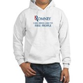 Anti-Romney: Fire People Hooded Sweatshirt