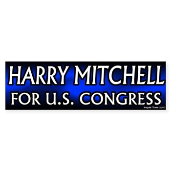 Re-Elect Harry Mitchell to Congress bumper sticker
