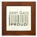 Military Army Dads Proud Framed Tile