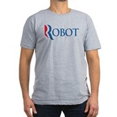 Anti-Romney ROBOT Men's Fitted T-Shirt (dark)