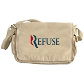 Anti-Romney Refuse Messenger Bag