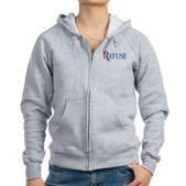 Anti-Romney Refuse Women's Zip Hoodie