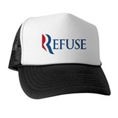 Anti-Romney Refuse Trucker Hat
