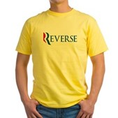 Anti-Romney Reverse Yellow T-Shirt