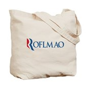 Anti-Romney ROFLMAO Tote Bag