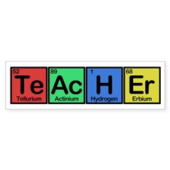 Teacher made of Elements colors Sticker (Bumper)