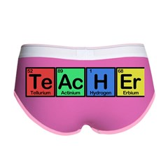 Teacher made of Elements colors Women's Boy Brief