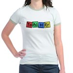 Teacher made of Elements whimsy Jr. Ringer T-Shirt