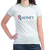 Anti-Romney RMONEY Jr. Ringer T-Shirt