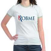Anti-Romney Robme Jr. Ringer T-Shirt