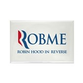 Anti-Romney Rob Me Robin Hood Rectangle Magnet