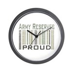 Military Army Reserves Proud Wall Clock