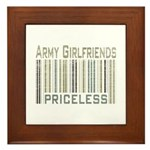 Army Girlfriends Priceless Barcode Framed Tile