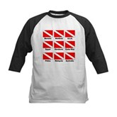 Dive Flags of the World Kids Baseball Jersey